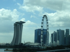 View of Singapore from the bus.