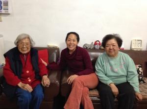 Grandma and my Aunt Carol and Aunt Julie