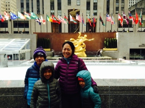 The Rockefeller Ice Rink that we did not skate on