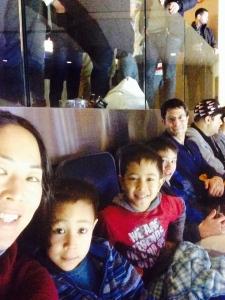 Watching hockey!