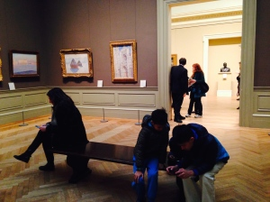 Surrounded by Monet