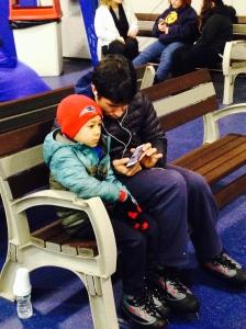 Humberto showing Teo how to skate via YouTube