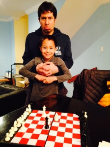 Teo has beaten his father!